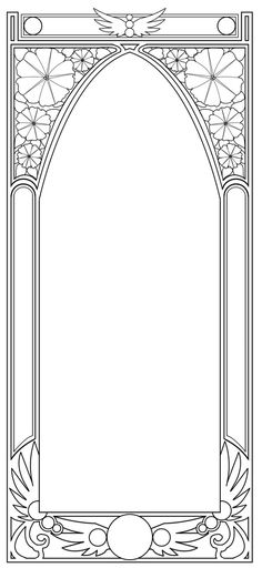 Free - Art Nouveau Border by BiSnarkian on deviantART [simple enough to embroider]