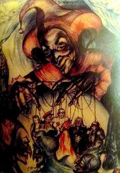 Rosaleen Norton | MaryAnn Adair's 'Is it art' Blog Rosaleen Norton, Thorn In The Flesh, Joker Playing Card, Maleficarum, Spider Art, Esoteric Art, Occult Art, Sabbats, Ap Art