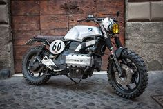 "pinterest.com/fra411 #BMW K100 Street Scrambler Custom BMW K100 Street Scrambler by George de Angelis ""racecafe"" workshop in Rome."