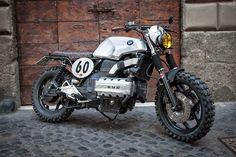 """pinterest.com/fra411 #BMW K100 Street Scrambler Custom BMW K100 Street Scrambler by George de Angelis """"racecafe"""" workshop in Rome."""