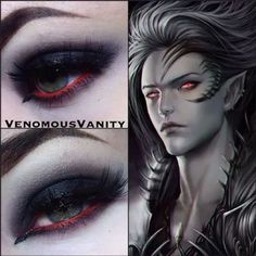 Look created with the help of starcrushedminerals eyeshadow  Anarchy.