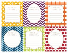 Just in time for Back to School!  Printable Bookplates in bold prints. << Customize with students' names, grade, etc. with editable fields!>> :: National School Products