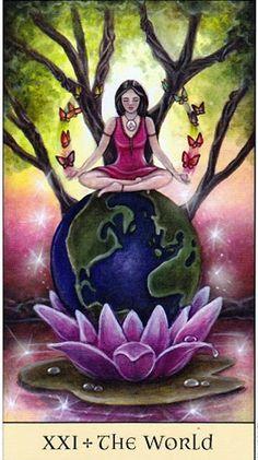 Đọc Lá XXI. The World - Crystal Visions Tarot bài tarot