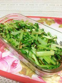簡単に♡ごま油香る♪水菜と塩昆布の和え物 レシピ・作り方 by やなママ☆ 楽天レシピ