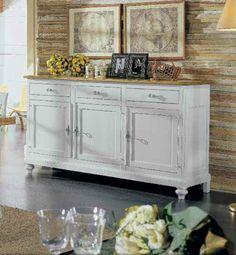 Credenza napoletana in legno laccata e decorata con for Bima arredamenti
