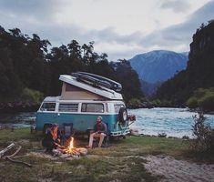 Tag someone you'd travel with! Van life by Volkswagen Transporter, Vw T3 Syncro, Vw T1, Combi Vw T2, Combi Ww, Van Life, Mini Van, Vw Minibus, Kombi Motorhome