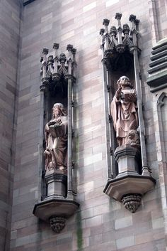 religous statues in episcopal churches | NYC - FiDi: Trinity Church - Evangelist Statues of St. Matthew and St ...