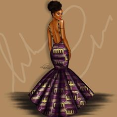 Peniel_enchill My favorite artist. Sexy Black Art, Black Love Art, Black Girl Art, My Black Is Beautiful, Black Girl Magic, African Print Dresses, African Fashion Dresses, African Attire, African Wear