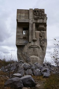 turelio:Mask of Sorrow, Magadan, Russiaa tribute to victims of gulag camps in Kolyma region