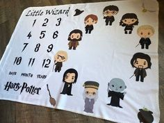 Little Wizard Milestone Blanket, Harry Potter Inspired Baby Blanket, Pick You Wizard Blanket, Matching Pillow, Bib & Burp Cloth This one of a kind HARRY POTTER personalized baby blanket is a perfect gift for the birth of a beautiful new baby! Baby Harry Potter, Harry Potter Baby Shower, Harry Potter Nursery, Harry Potter Gifts, Harry Potter Baby Clothes, Harry Potter Clothing, Baby Showers, Baby Shower Gifts, Baby Gifts