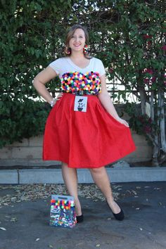 DIY Gumball Machine Costume | 31 Days of DIY | #myfairolinda