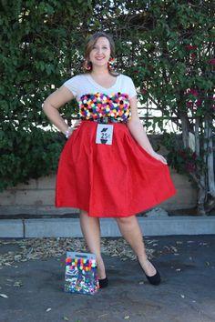 DIY Gumball Machine Costume   31 Days of DIY   #myfairolinda