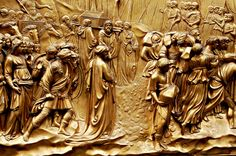 Story of Joshua on the Gates of Paradise, Baptistry of San Giovanni, #Florence.