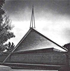 Iglesia Del Nazareno, Guadalara, Jalisco, México 1967    Arq. Alejandro Zohn -    Church of the Nazarene, Guadalara, Jalisco, Mexico 1967