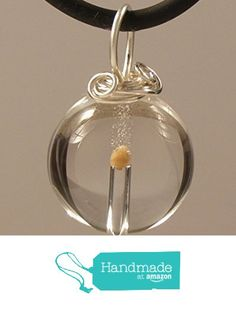 Mustard Seed in Pendant, Natural crystal Quartz, Wire wrapped bail, on cord, comes with notecard including all 5 passages of scripture related to the mustard seed in the bible. from Designs by Dar https://www.amazon.com/dp/B01A5VL3GI/ref=hnd_sw_r_pi_dp_dHjQxbDYCFHE9 #handmadeatamazon