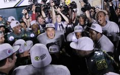 Scenes from the 2012 Rose Bowl win.