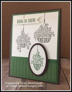 Organic Gardening Supplies Near Me Info: 7883382405 Stampin Up Anleitung, Bee Design, Stamping Up Cards, Quick Cards, Get Well Cards, Hanging Baskets, Flower Cards, Greeting Cards Handmade, Planting Flowers