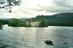 "Loch an Eilean Castle, Highland, Scotland.    ""Built on a island in Loch an Eilean (Rothiemurchus) stands a ruin. The castle was once a stronghold of the Wolf of Badenoch."""