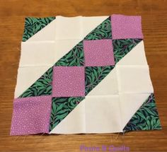 Paula B Quilts is doing a Modern HST Sampler using Morris Jewels among her brights.