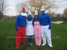 Meet the Smurfs! Check out your local Goodwill for all of your Halloween shopping : www.goodwillvalleys.com/shop