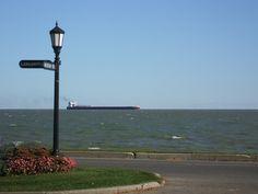 Freighter at Lakeshore and Moran