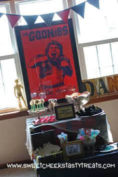 Goonies Party- SO very cool. I want a Goonies birthday party!!