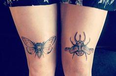 42 Unique And Beautiful Snowflake Tattoos Dot Tattoos, Time Tattoos, Black Tattoos, Small Tattoos, Tatoos, Insect Tattoo, Bee Tattoo, Tattoo Ink, Handpoked Tattoo