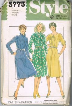 Style 3773 Classic Dresses (Women Sizes 40-42-44) by Style Patterns Ltd