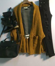 Lapel Pockets Loose Khaki Coat - Trendslove