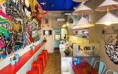 Photos of Funky Pho, Budapest - Restaurant Images - TripAdvisor Budapest Restaurant, Pho Restaurant, Fast Food Restaurant, Cafe Interior, Interior Design, London Restaurants, Budapest Hungary, Four Square, Trip Advisor