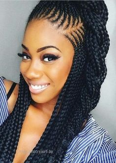 All styles of box braids to sublimate her hair afro On long box braids, everything is allowed! For fans of all kinds of buns, Afro braids in XXL bun bun work as well as the low glamorous bun Zoe Kravitz. Black Girl Braids, Girls Braids, Box Braids Hairstyles, Twist Hairstyles, Hairstyles Videos, Hairstyles 2018, Faux Locs Styles, Long Box Braids, Box Braids Styling