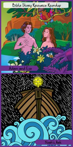 Bible Story Resource Roundup - Adam and Eve, Noah. There are dozens of free resources to help you teach younger-and older-children these foundational stories.