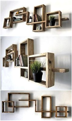 Give your wall gorgeous look by crafting pallet artistic wall decor shelf. This item offers enough space to place required items on it. This project presents your place in fabulous, appealing and superb style. Its natural and simple appearance is admirable.