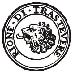 Next Stop Rione Trastevere Black Text
