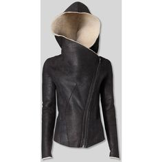 Womens Leather Shearling Coat