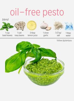 Are you looking for a vegan pesto? We love this simple recipe that you can blend in under 15 minutes. We enjoy plant based meals that are oil free! You can find more oil free recipes like this pesto in our Plant Ahead Meal Prep Program! Vegan Sauces, Vegan Foods, Vegan Dishes, Vegan Recipes Plant Based, Vegetarian Recipes, Healthy Recipes, Free Recipes, Healthy Pesto, Dinner Healthy