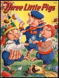 """Three Little Pigs"" Merrill 1941 by Milo Winter"