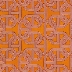 Orange Fabric | Chaine d'Ancre | Chain Link Pattern | Hermes Paris | Fashion Brand | Wallpaper Design | Fabric Pattern