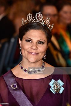 Crown Princess Victoria of Sweden attends the Nobel Prize Banquet 2015 at City Hall on December 10, 2015 in Stockholm, Sweden.  (Photo by Pascal Le Segretain/WireImage)