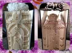 here are 2 x patterns of part of my 4 wedding themed arches my own creations this is pack 1. book folding patterns only BOOK NOT INCLUDED in pdf numbers that will allow you to create your own books which you can sell..please do not edit or share my pattern wedding arch mr and mrs…