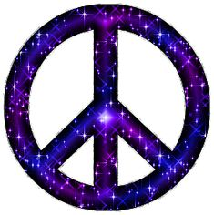Blue Peace Sign | ... Graphic Comment: Blue Purple Glitter Peace Sign With Silver Border