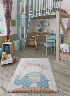 Zoomie Kids Teppich Spotty Elephant in Hellblau Kids Lighting, Confetti, Light Blue, Elephant, Carving, Kids Rugs, Warm, Children, Furniture