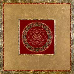 Maroon Sri Yantra Mandala