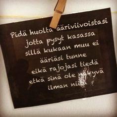 Takana on aivan älyttömän hauska viikonloppu Ilosaarirockissa, jossa olin jo 10. kerran kuuntelemassa musiikkia ja nauttimassa seurasta. Vitsit, kun elämä olisi aina noin huoletonta, mukavaa ja nauruntäyteistä! Tuntui ihan ankealta tulla takaisin pääkaupunkiseudulle. Wall Quotes, Lyric Quotes, Mood Quotes, Life Quotes, Finnish Words, Most Beautiful Words, Strong Words, Something To Remember, Think