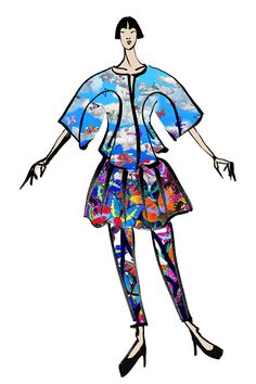 """Designer Fashion Week Inspiration - Elle """"The LIE SANGBONG Spring/Summer 2015 collection evokes optimism and celebrates life. I want to share the positivity that is brought on by the beginning of spring and the promise of a new day."""""""