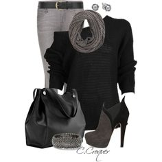 Black & Grey Only, created by ccroquer on Polyvore