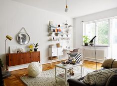 A Swedish apartment with a mid-century touch