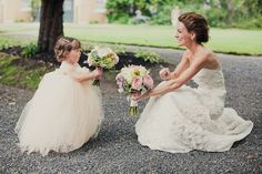 Bride and her flower girl.