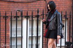 Street Style and Fashion Photography Tiffany, Leather Skirt, Fashion Photography, Street Style, London, Leather Skirts, Urban Style, Street Style Fashion, High Fashion Photography