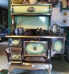 What A Gorgeous Cook Stove #AntiqueFurnitureForSale